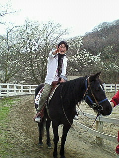 馬にも乗った♪