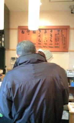 CMまたいで親父と寿司屋。