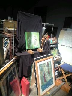 アートスタジオに来ています。