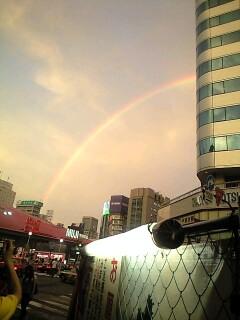 がんばったら虹。