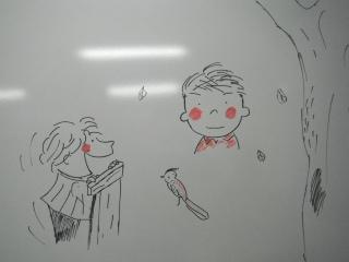 ステージの合間にお絵描き。